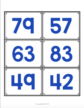 Base Ten Number Sort (A Place Value Game)