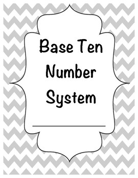 Base Ten Number System & Place Value Student Notes