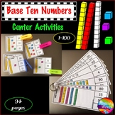 Base Ten Activities for Numbers 0-100 Printable Kinder and Grade 1 Math Centers
