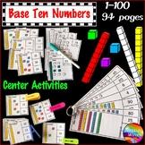 Base Ten Math Activities Numbers 0-100 Kinder and Grade 1