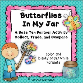 Place Value Activity Tens and Ones Butterflies In My Jar