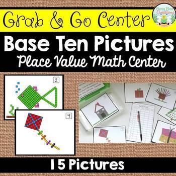 Base Ten Pictures - Place Value Math Center