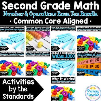 Base Ten: Place Value 1st Grade: Activities by the Standards NBT Bundle