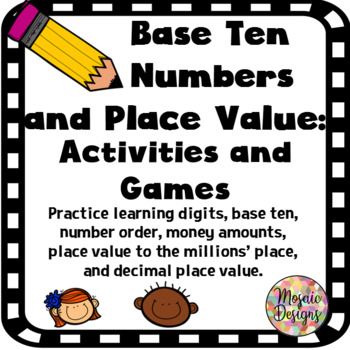 Base Ten Place Value Activities and Games