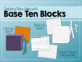 Base Ten Place Value Blocks Clipart