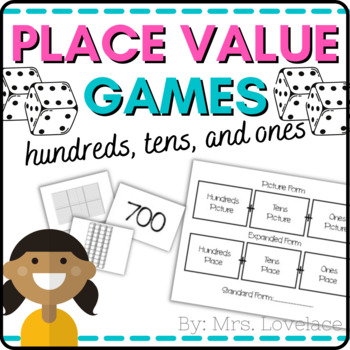 Base Ten Place Value Game:  Place Value, Expanded, and Sta