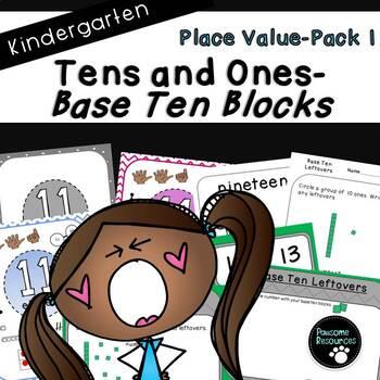 Base Ten Place Value-Pack 1 (Kindergarten-K.NBT.1)