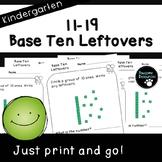 Base Ten Place Value Pages (Kindergarten-K.NBT.1)