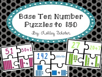 Base Ten Place Value Puzzles