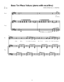 Base Ten Place Value: Sheet Music