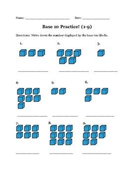 Base Ten Practice 1-9