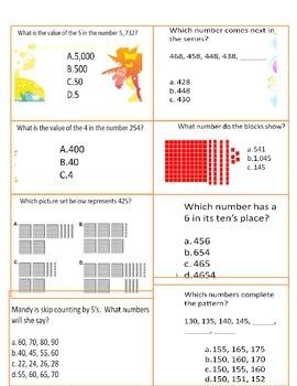 Base Ten Practice Sheets