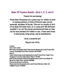 Base Ten Puzzle Bundle