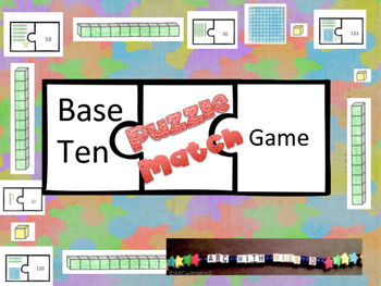 Base Ten Puzzle-Place Value and Matching Game