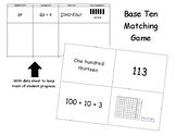 Base Ten, Standard form, Word form, and Expanded form matching card game