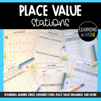 Base Ten and Place Value Stations and Worksheets