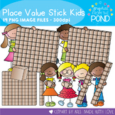 Place Value Stick Kids - Clipart for Math and Teaching