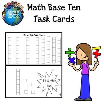 Base Ten Sum Task Cards