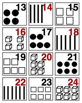 Base Ten Symbols Calendar Date Cards