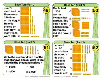 Base Ten Task Cards (100 Cards)