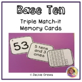 Base Ten Triple Match Math Center