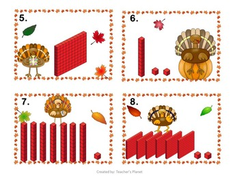 Base Ten Turkey Trouble and Task Cards!