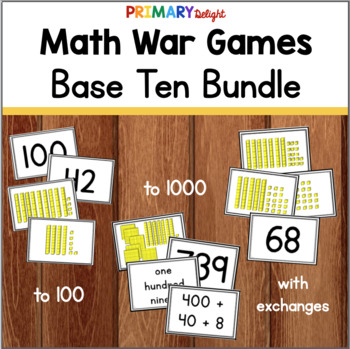 Base Ten War Game Bundle (A Set of Place Value Games)