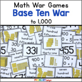Place Value Game - Base Ten War to 1000