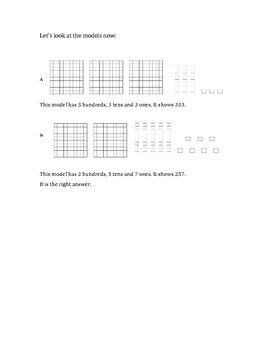Base Ten and Hundreds Worksheet