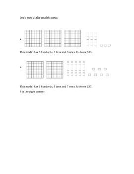 Base Ten and Hundreds Worksheet