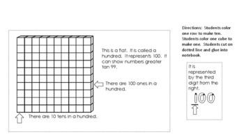 Base Ten block math notebook