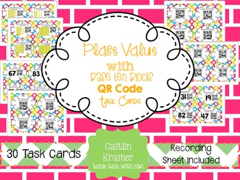 Place Value {Tens & Ones} QR Codes with Task Cards (CC Aligned)
