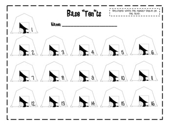 Base Tents: Place Value Practice