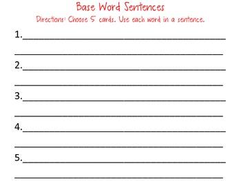 Base Word Baseball