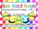 Base/Root Word Boogie: Inflectional Endings -ed & -ing (K-1) - MEGA SOURCE!
