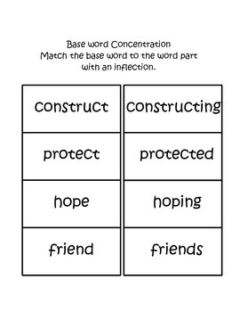Base Word Concentration