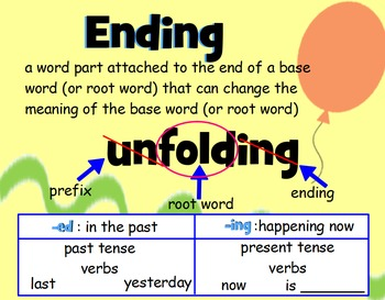 Base Word and Endings (-ed and -ing)