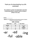 Base Word and Suffix Practice