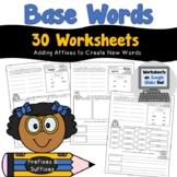 Base Words Worksheets
