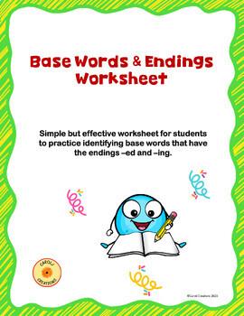 Base Words and Endings Worksheet