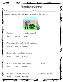 Base Words and endings -s, -ed, -ing