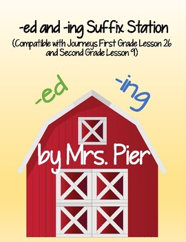 Base Words with -ed -ing Suffixes (Compatible w/ Journeys 1st Grade Lesson 26)