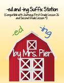 -ed -ing Suffixes (Compatible w/ Journeys 1st Gr. Lesson 26 & 2nd Gr. Lesson 9)