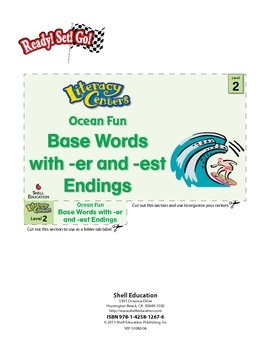 Base Words with -er and -est Endings--Ocean Fun Literacy C