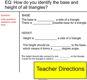 Base and Height of a Triangle Smart Lesson