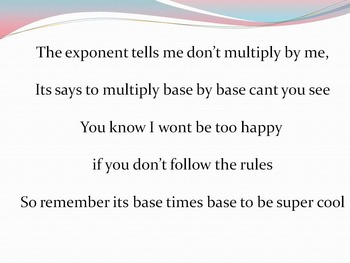 Base by Base- Exponent Song