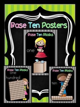 Base ten Blocks Posters