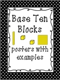 Base ten block posters with examples