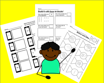 Base ten block practice worksheets