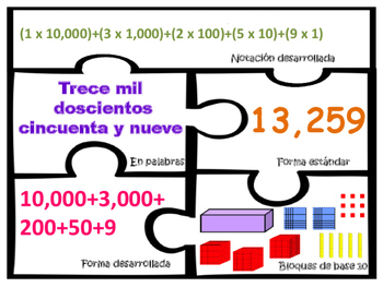 Base ten blocks expanded notation Bloques de 10 Forma Desa